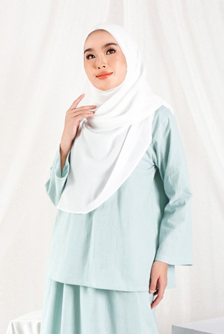 Nomi Blouse in Mint Blue